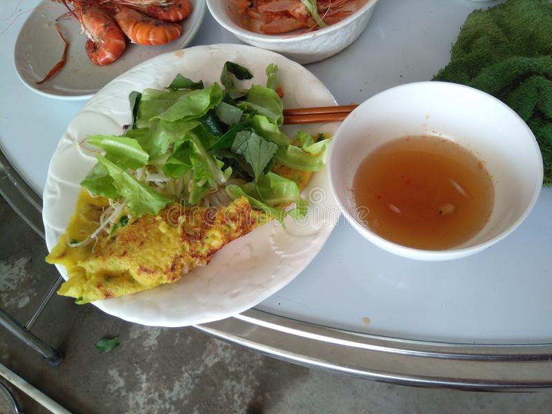 Εύγευστη τηγανίτα του Βιετνάμ στοκ εικόνα
