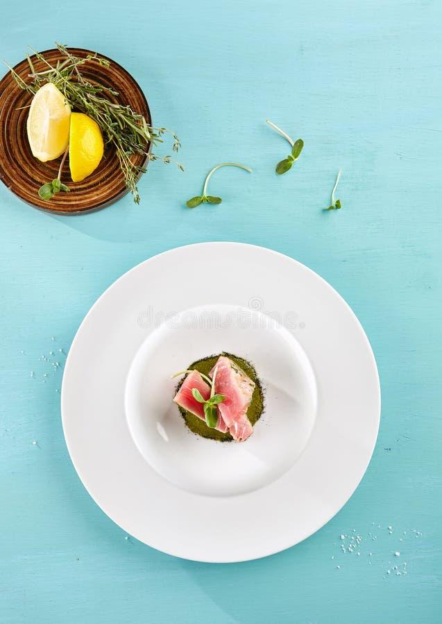Εύγευστη τηγανισμένη λωρίδα τόνου στοκ εικόνες με δικαίωμα ελεύθερης χρήσης