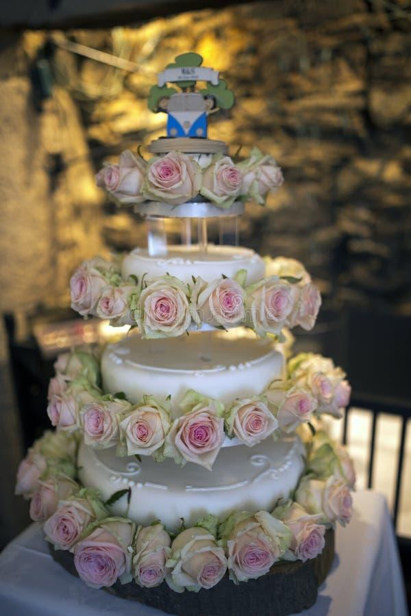 εύγευστος γάμος κέικ στοκ εικόνες