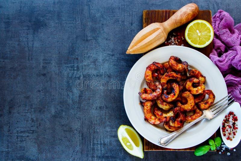 Εύγευστο γεύμα θαλασσινών στοκ εικόνα