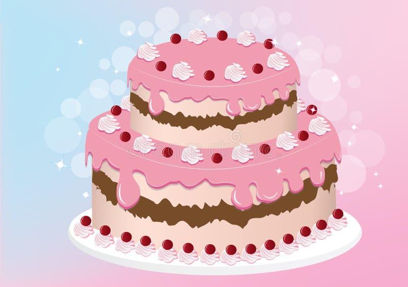Εύγευστο διάνυσμα κέικ στοκ εικόνες
