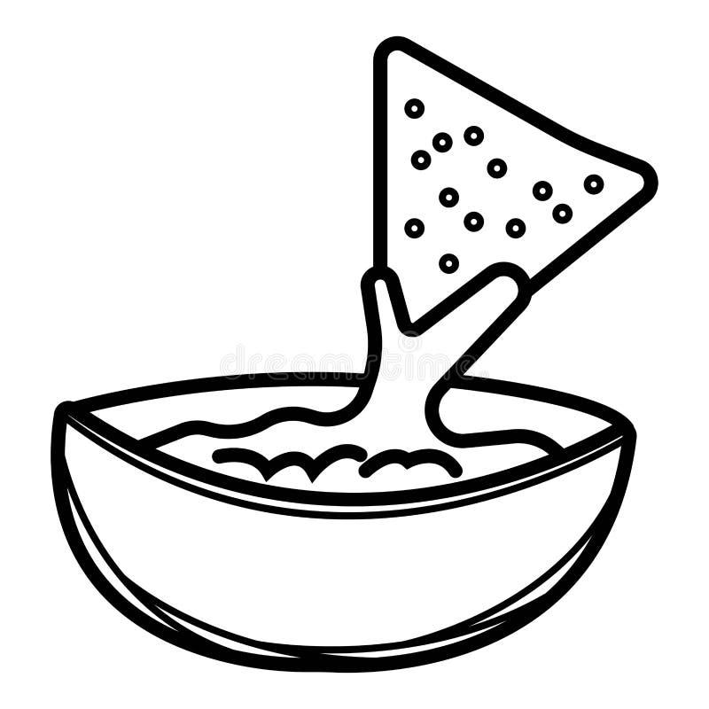 Εύγευστο μεξικάνικο εικονίδιο τροφίμων ελεύθερη απεικόνιση δικαιώματος
