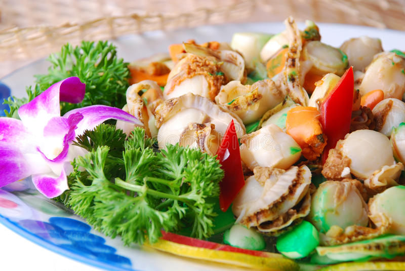 εύγευστο όστρακο τροφίμων της Κίνας στοκ εικόνες