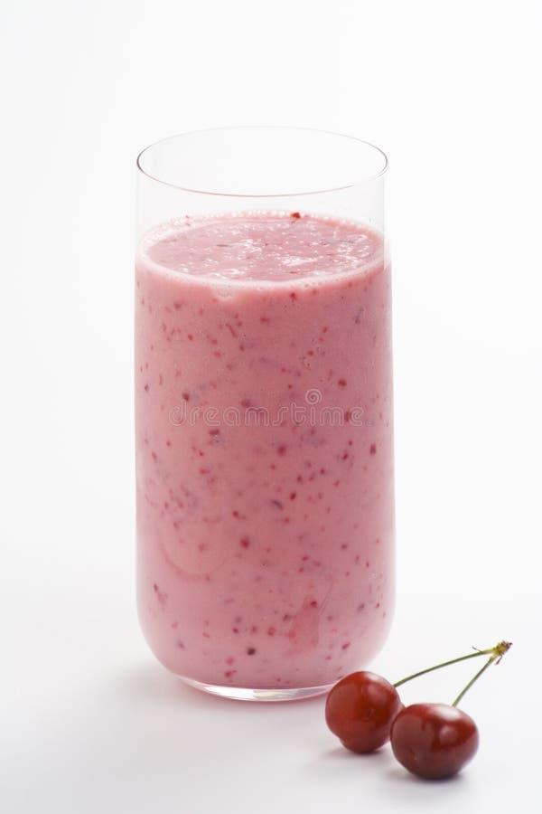 εύγευστο milkshake κερασιών στοκ εικόνες με δικαίωμα ελεύθερης χρήσης