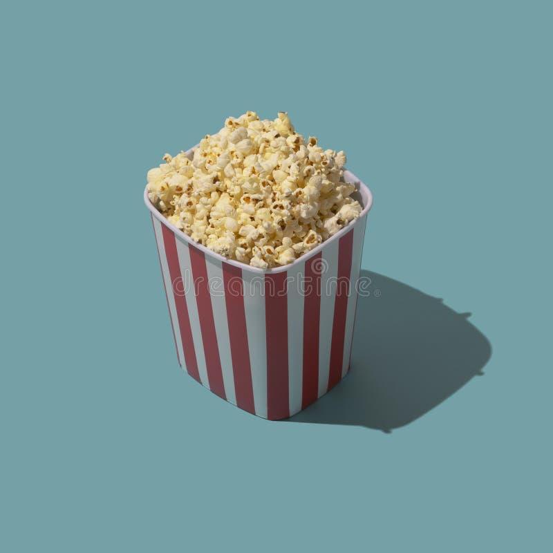 Εύγευστο popcorn πρόχειρο φαγητό απεικόνιση αποθεμάτων