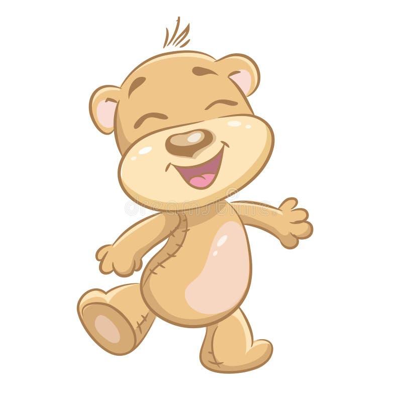 Εύθυμες αρκούδες απεικόνισης παιδιών διανυσματική απεικόνιση