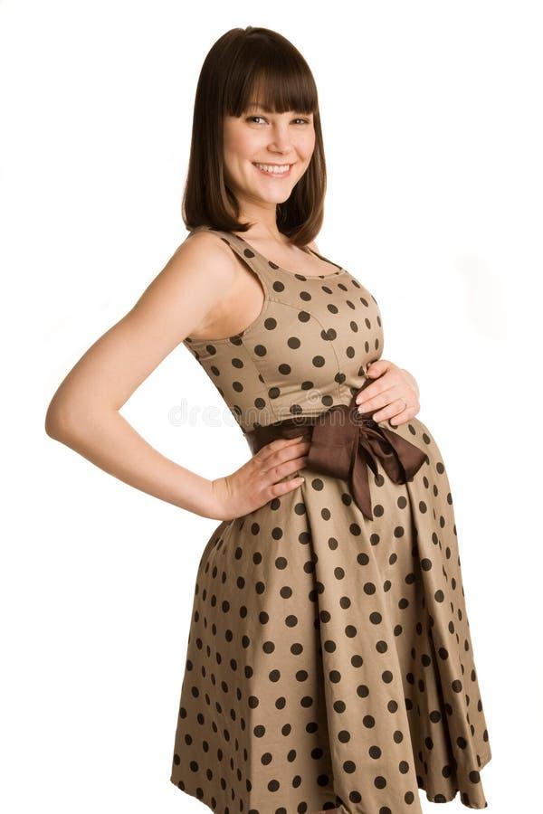 Εύθυμη έγκυος γυναίκα στοκ φωτογραφία