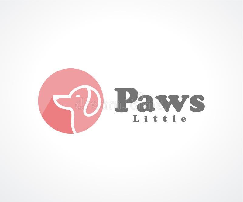 Εύθυμη έννοια σχεδίου λογότυπων ποδιών, πρότυπο σχεδίου λογότυπων κατοικίδιων ζώων ελεύθερη απεικόνιση δικαιώματος