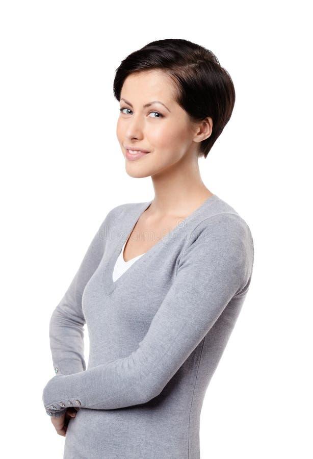 Εύθυμη γυναίκα Smiley στοκ εικόνα