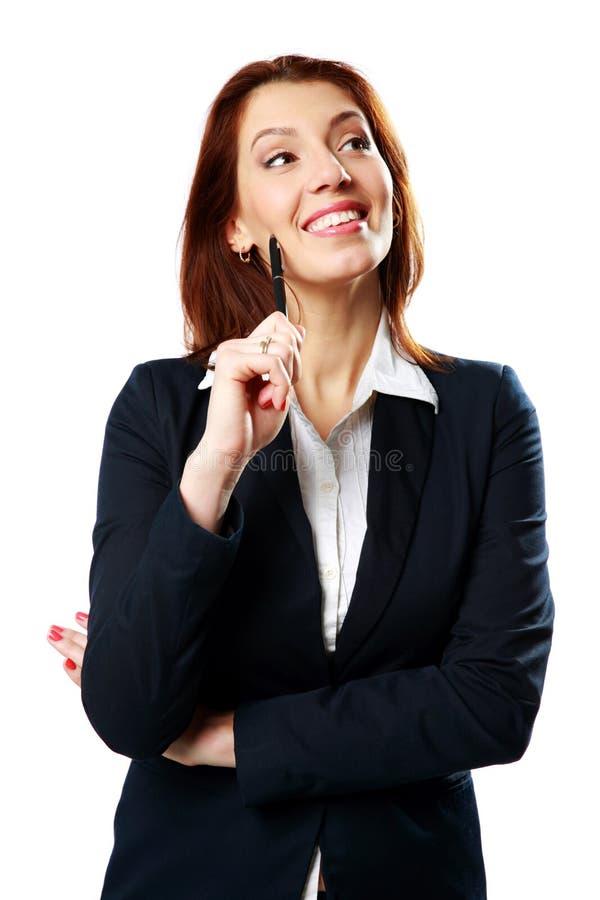 Εύθυμη μάνδρα εκμετάλλευσης γυναικών επιχειρηματιών στοκ φωτογραφία με δικαίωμα ελεύθερης χρήσης