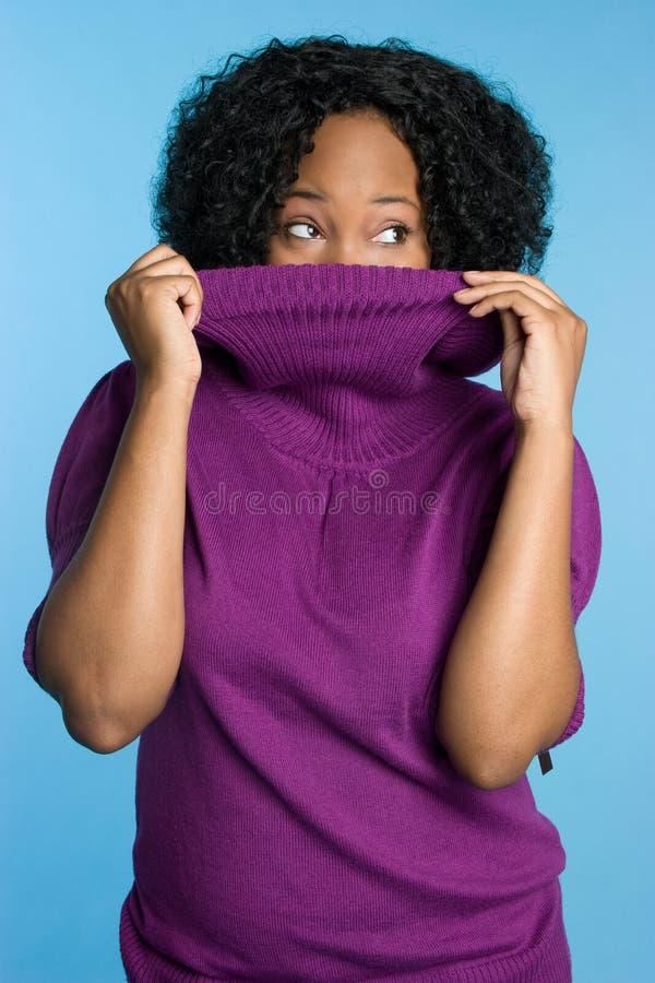 εύθυμη χειμερινή γυναίκα στοκ φωτογραφίες