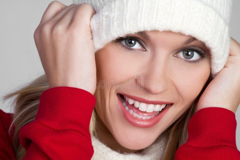 εύθυμη χειμερινή γυναίκα στοκ εικόνες