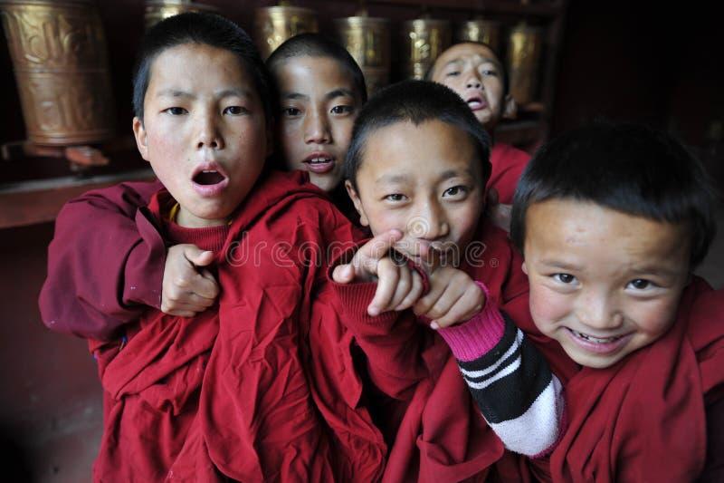 Εύθυμοι μοναχοί Kds στοκ εικόνες με δικαίωμα ελεύθερης χρήσης