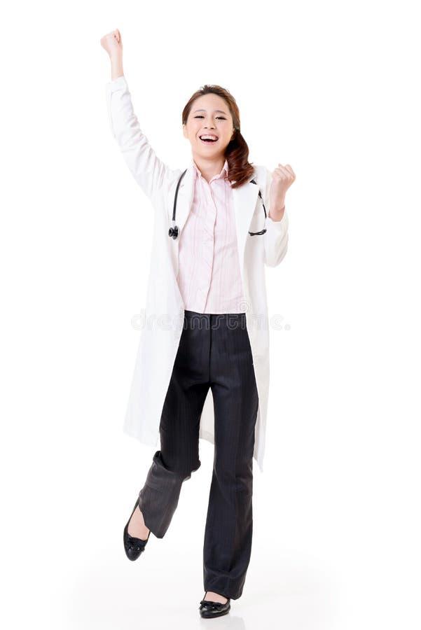 Εύθυμος ασιατικός γιατρός στοκ φωτογραφία