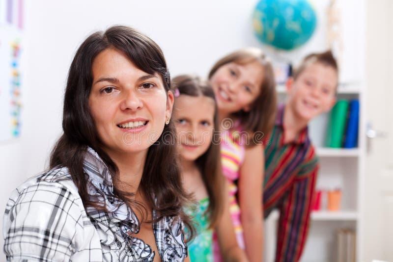εύθυμος δάσκαλος διάφ&omicron στοκ εικόνες