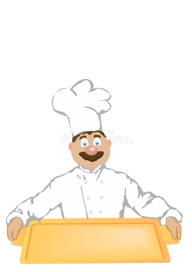 εύθυμος μάγειρας διανυσματική απεικόνιση