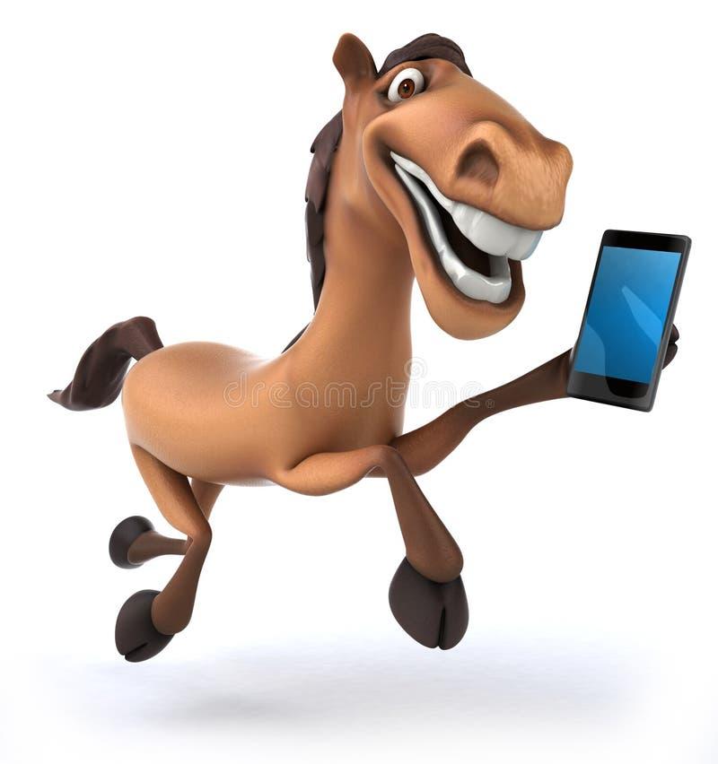 εύθυμο άλογο διασκέδασης εκθεσιακών χώρων ψυχαγωγίας ιπποδρομίων παραδοσιακό διανυσματική απεικόνιση