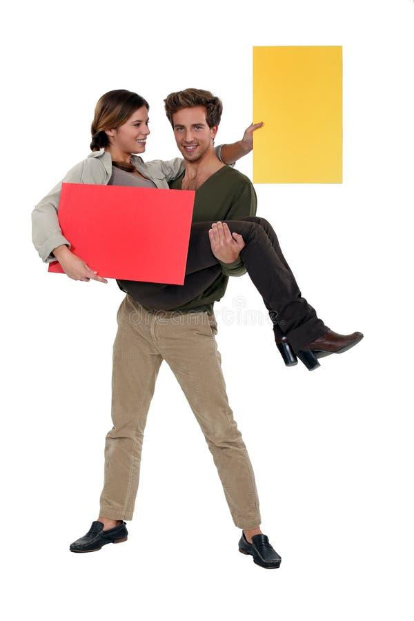 Εύθυμο ζεύγος στοκ εικόνες με δικαίωμα ελεύθερης χρήσης