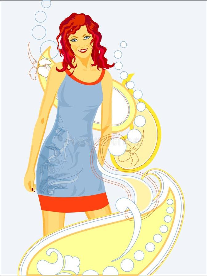 Download εύθυμο κορίτσι διανυσματική απεικόνιση. εικονογραφία από θηλυκό - 17053174