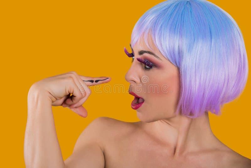 Εύθυμο πρότυπο το mustache που χρωματίζεται με στο δάχτυλο στοκ φωτογραφία με δικαίωμα ελεύθερης χρήσης