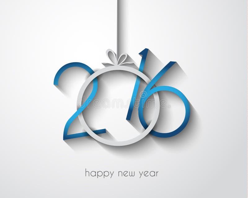2016 εύθυμο υπόβαθρο Chrstmas και καλής χρονιάς διανυσματική απεικόνιση