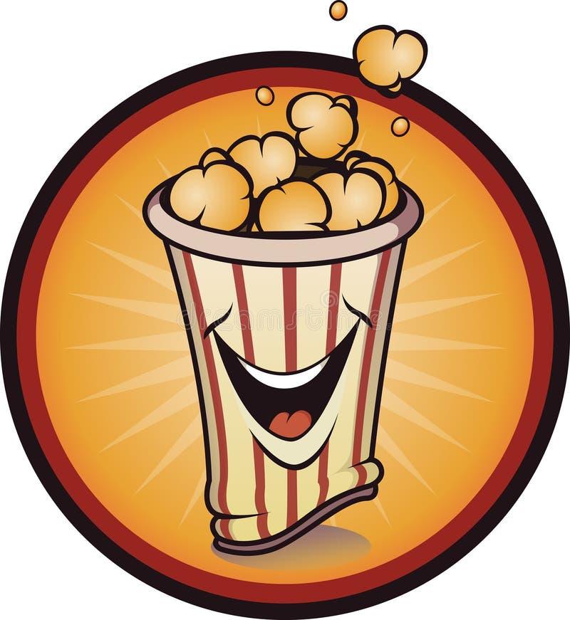 Εύθυμο popcorn διανυσματική απεικόνιση
