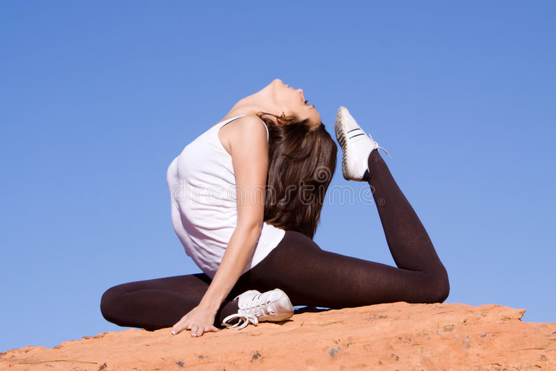 εύκαμπτος gymnast στοκ φωτογραφία με δικαίωμα ελεύθερης χρήσης