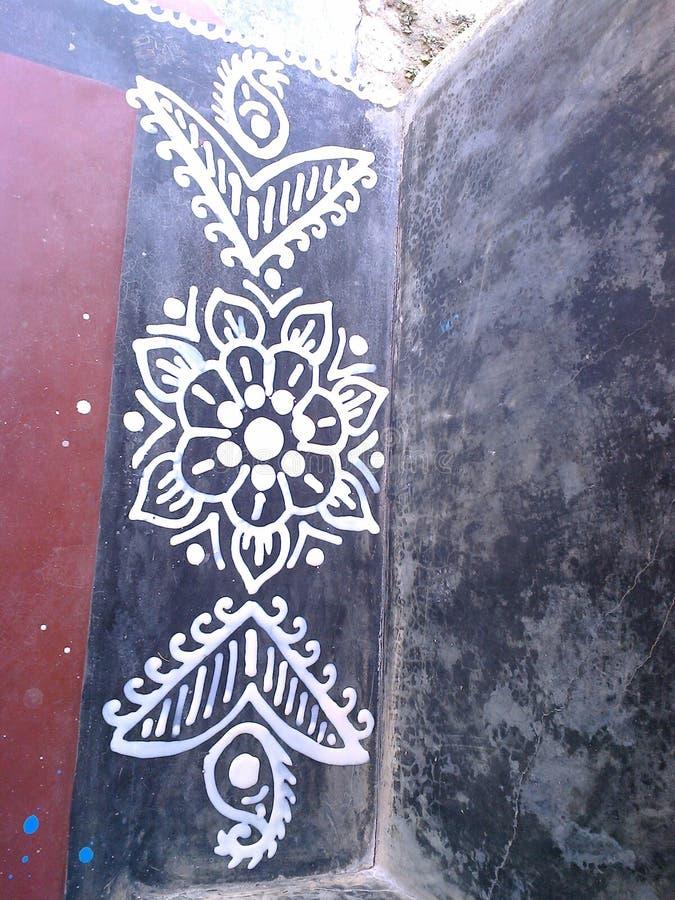 Εύκολο χέρι - γίνοντα σχέδιο στο πάτωμα στοκ φωτογραφία