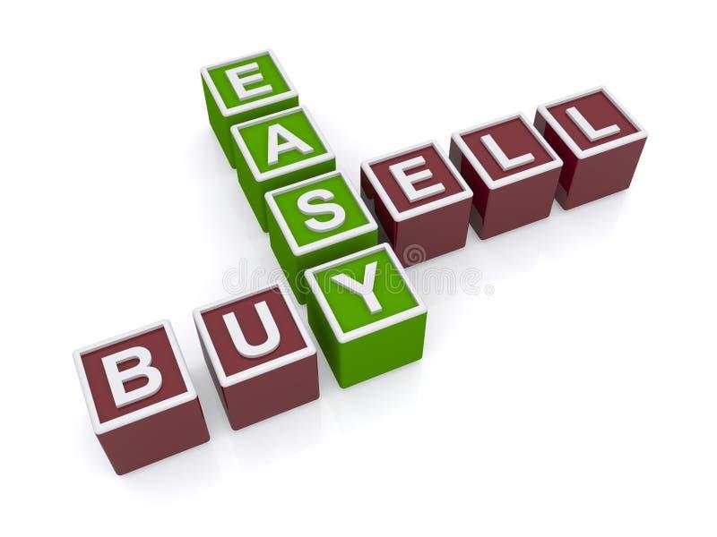 Εύκολος αγοράστε και πωλήστε διανυσματική απεικόνιση