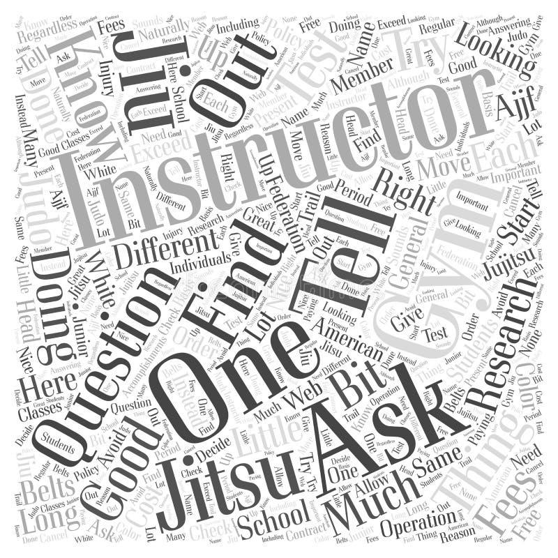 Εύρεση ενός διανυσματικού υποβάθρου έννοιας σύννεφων λέξης έννοιας σύννεφων λέξης γυμναστικής Jiu Jitsu ελεύθερη απεικόνιση δικαιώματος