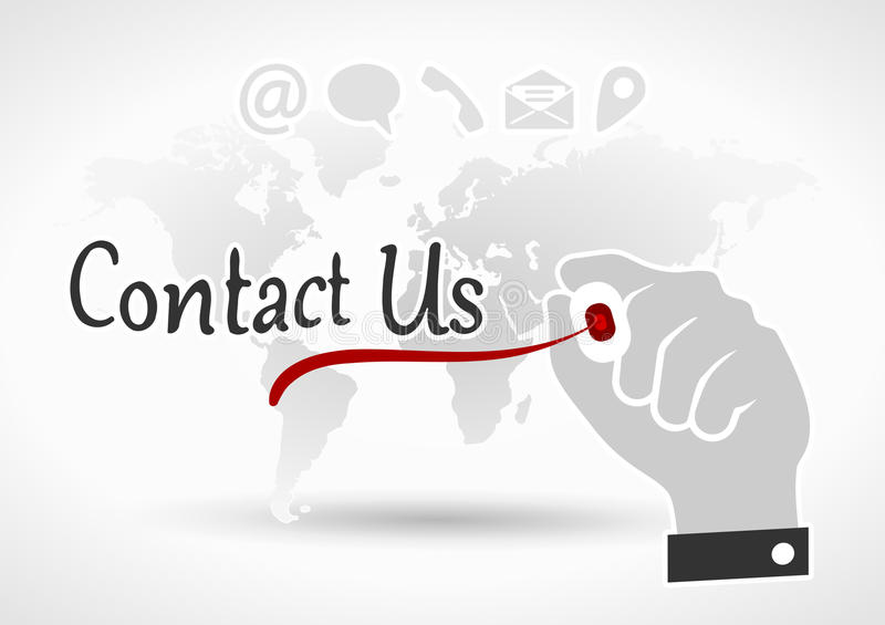 ελάτε σε επαφή με το ταχυδρομείο τηλεφωνά σε μας διανυσματική απεικόνιση