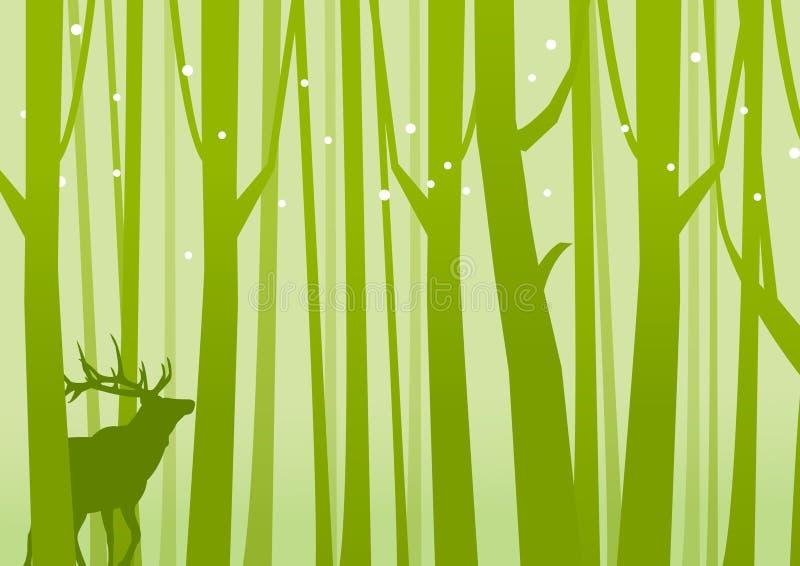 Ελάφια δασικό σε πράσινο στοκ φωτογραφία
