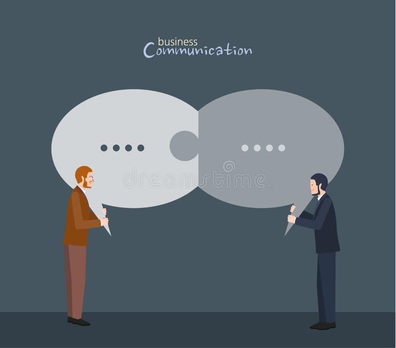 Ελάχιστος επίπεδος χαρακτήρας των απεικονίσεων έννοιας επιχειρησιακών επικοινωνιών διανυσματική απεικόνιση