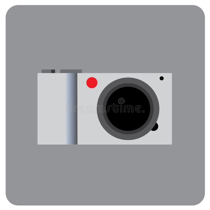 Ελάχιστο κόκκινο σημείο σωμάτων ψηφιακών κάμερα ασημένιο στοκ φωτογραφίες