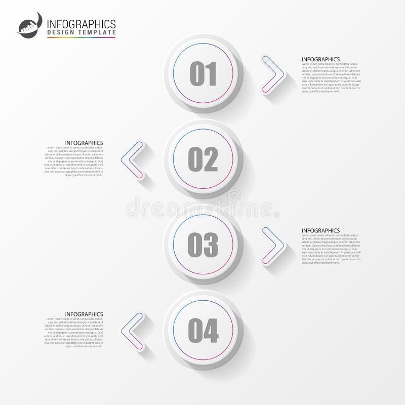 Ελάχιστο σχέδιο infographics Σύγχρονη έννοια υπόδειξης ως προς το χρόνο διάνυσμα διανυσματική απεικόνιση