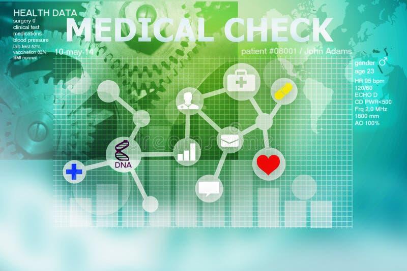 ελέγξτε ιατρικό επάνω διανυσματική απεικόνιση