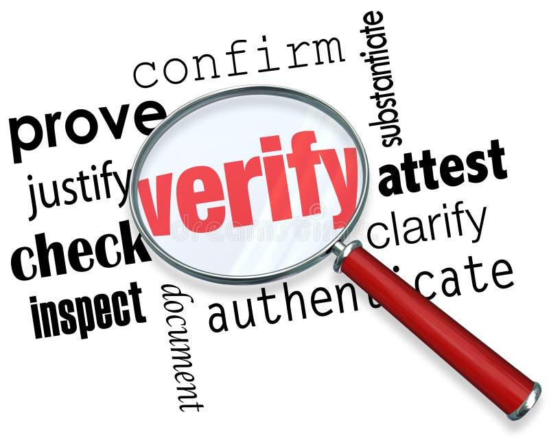 Ελέγξτε την ενίσχυση του Word - το γυαλί πιστοποιεί ότι αποδειχθείτε ο έλεγχος επιθεωρεί απεικόνιση αποθεμάτων