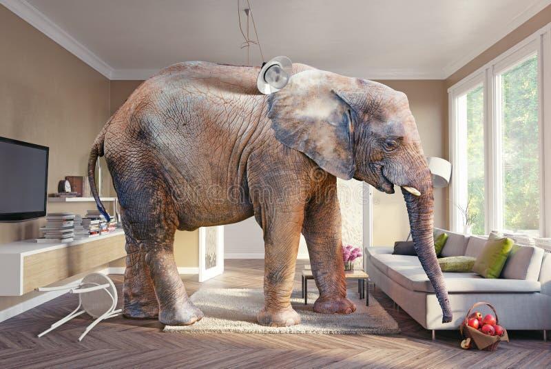 Ελέφαντας και η μπύρα διανυσματική απεικόνιση