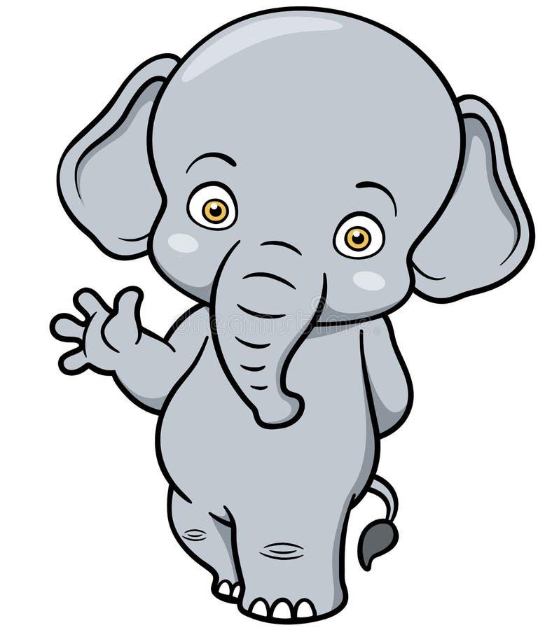 Ελέφαντας κινούμενων σχεδίων διανυσματική απεικόνιση