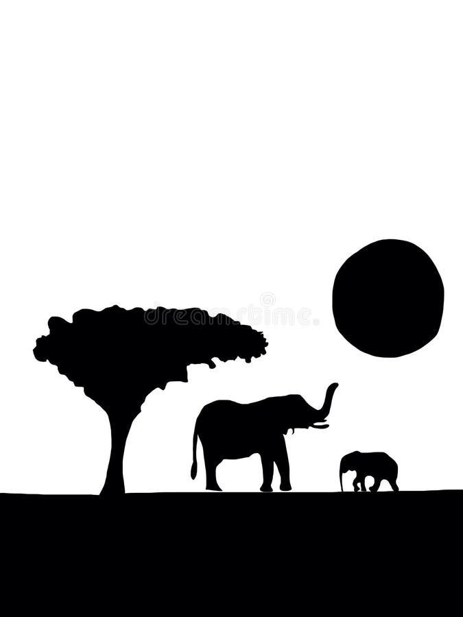 Ελέφαντες κινούμενων σχεδίων στοκ φωτογραφία