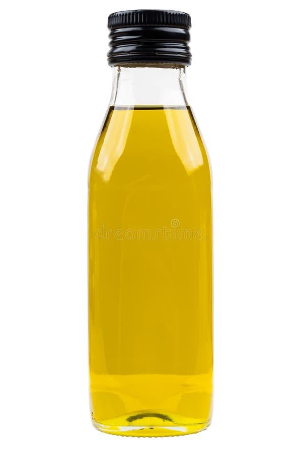 Ελαιόλαδο στο κλειστό μπουκάλι γυαλιού που απομονώνεται στο λευκό στοκ εικόνες με δικαίωμα ελεύθερης χρήσης