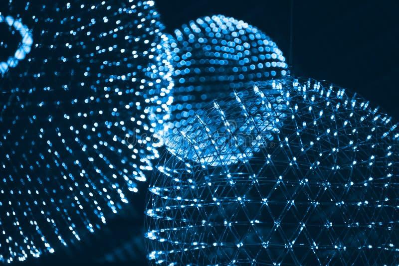 Ελαφριά έννοια επιστήμης πυρήνων, ατόμων, στοιχείων ή μορίων στοκ φωτογραφίες με δικαίωμα ελεύθερης χρήσης