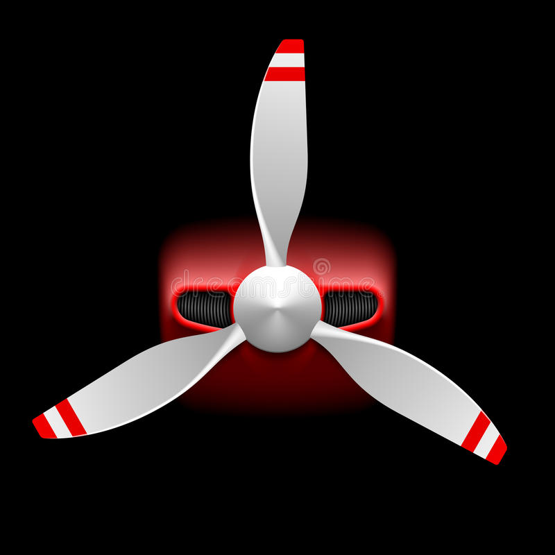 Ελαφριά αεροσκάφη με τον προωστήρα απεικόνιση αποθεμάτων