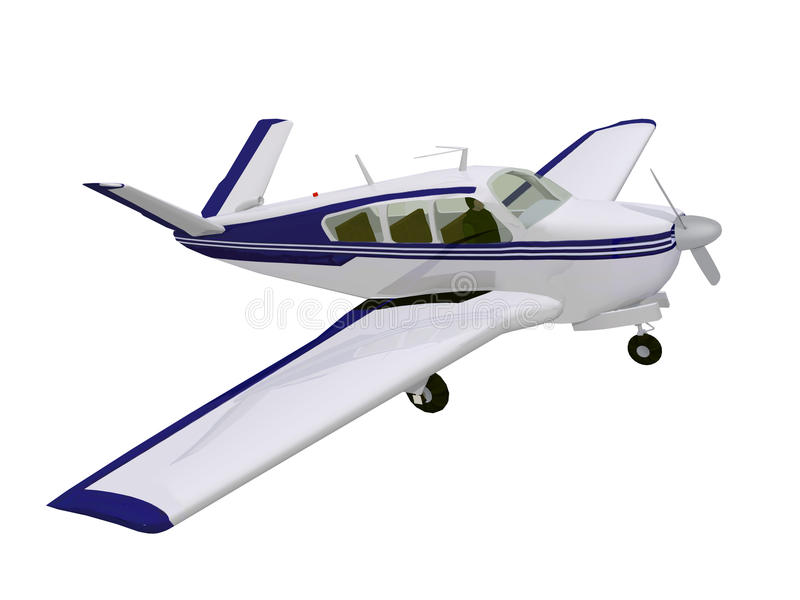 Ελαφριά αεροσκάφη στο άσπρο υπόβαθρο απεικόνιση αποθεμάτων