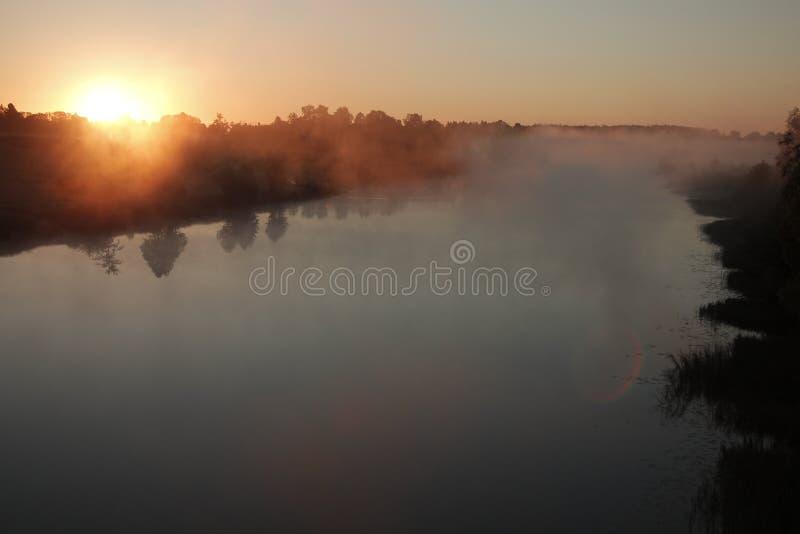 Ελαφριά ομίχλη πρωινού στοκ εικόνες