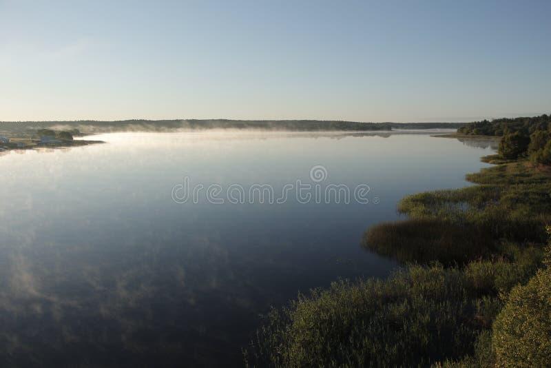 Ελαφριά ομίχλη πρωινού στοκ φωτογραφία