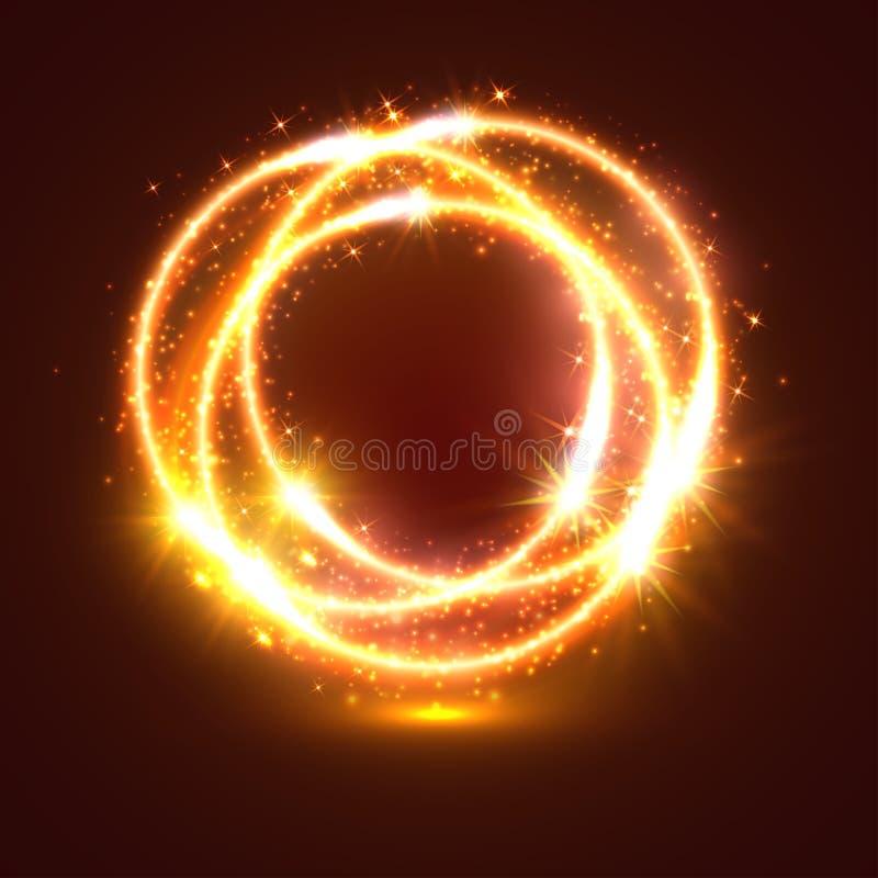 Ελαφριοί λάμψεις και sparkler κύκλοι φω'των ελεύθερη απεικόνιση δικαιώματος