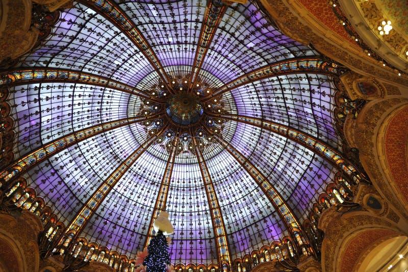 Ελαφρύς θόλος των στοών Λαφαγέτ, Παρίσι στοκ εικόνες με δικαίωμα ελεύθερης χρήσης