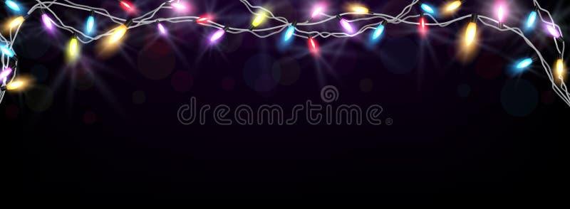 Ελαφρύ έμβλημα Χριστουγέννων διανυσματική απεικόνιση