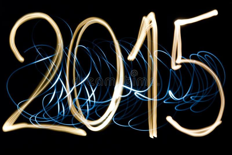 Ελαφρύ έτος 2015 ζωγραφικής στοκ εικόνες